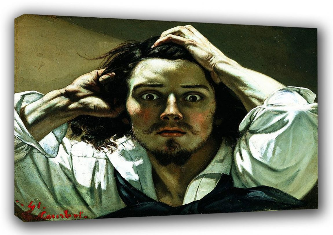 Courbet, Gustave: The Desperate Man. Fine Art Canvas. Sizes: A3/A2/A1 (00458)